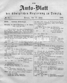 Amts-Blatt der Königlichen Regierung zu Danzig, 17. Juni 1868, Nr. 25