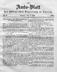 Amts-Blatt der Königlichen Regierung zu Danzig, 8. Juli 1868, Nr. 28