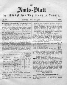 Amts-Blatt der Königlichen Regierung zu Danzig, 15. Juli 1868, Nr. 29
