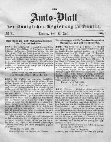 Amts-Blatt der Königlichen Regierung zu Danzig, 22. Juli 1868, Nr. 30