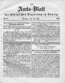 Amts-Blatt der Königlichen Regierung zu Danzig, 29. Juli 1868, Nr. 31