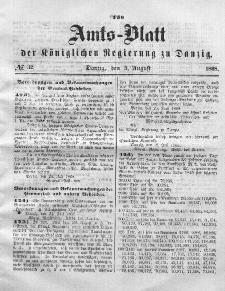Amts-Blatt der Königlichen Regierung zu Danzig, 5. August 1868, Nr. 32
