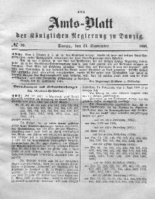 Amts-Blatt der Königlichen Regierung zu Danzig, 23. September 1868, Nr. 39