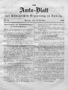 Amts-Blatt der Königlichen Regierung zu Danzig, 14. Oktober 1868, Nr. 42