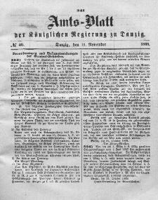 Amts-Blatt der Königlichen Regierung zu Danzig, 11. November 1868, Nr. 46