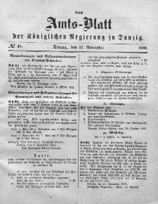Amts-Blatt der Königlichen Regierung zu Danzig, 25. November 1868, Nr. 48