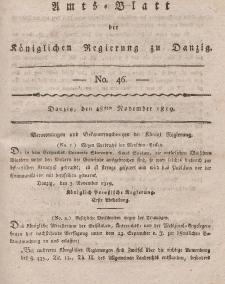 Amts-Blatt der Königlichen Regierung zu Danzig, 18. November 1819, Nr. 46