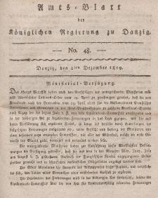 Amts-Blatt der Königlichen Regierung zu Danzig, 2. Dezember 1819, Nr. 48