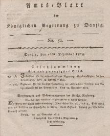 Amts-Blatt der Königlichen Regierung zu Danzig, 16. Dezember 1819, Nr. 50