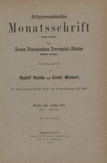 Altpreussische Monatsschrift, 1901, April-Juni, Bd. 38