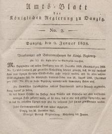 Amts-Blatt der Königlichen Regierung zu Danzig, 9. Januar 1828, Nr. 2