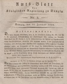 Amts-Blatt der Königlichen Regierung zu Danzig, 30. Januar 1828, Nr. 5