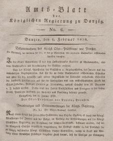 Amts-Blatt der Königlichen Regierung zu Danzig, 6. Februar 1828, Nr. 6