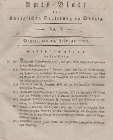 Amts-Blatt der Königlichen Regierung zu Danzig, 13. Februar 1828, Nr. 7