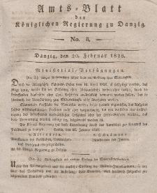 Amts-Blatt der Königlichen Regierung zu Danzig, 20. Februar 1828, Nr. 8