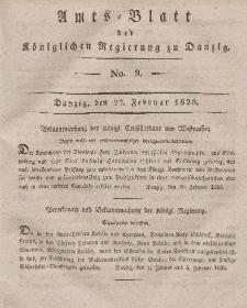 Amts-Blatt der Königlichen Regierung zu Danzig, 27. Februar 1828, Nr. 9