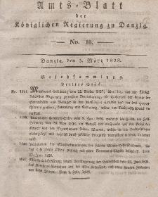 Amts-Blatt der Königlichen Regierung zu Danzig, 5. März 1828, Nr. 10