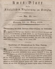 Amts-Blatt der Königlichen Regierung zu Danzig, 12. März 1828, Nr. 11