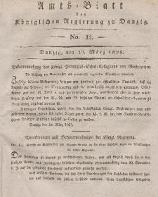 Amts-Blatt der Königlichen Regierung zu Danzig, 19. März 1828, Nr. 12