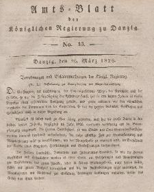 Amts-Blatt der Königlichen Regierung zu Danzig, 26. März 1828, Nr. 13
