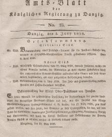 Amts-Blatt der Königlichen Regierung zu Danzig, 4. Juni 1828, Nr. 23