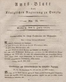 Amts-Blatt der Königlichen Regierung zu Danzig, 9. Juli 1828, Nr. 28