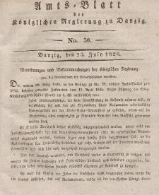Amts-Blatt der Königlichen Regierung zu Danzig, 23. Juli 1828, Nr. 30