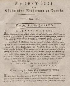 Amts-Blatt der Königlichen Regierung zu Danzig, 30. Juli 1828, Nr. 31