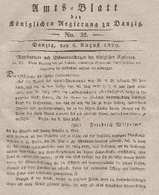 Amts-Blatt der Königlichen Regierung zu Danzig, 6. August 1828, Nr. 32