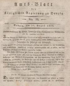 Amts-Blatt der Königlichen Regierung zu Danzig, 20. August 1828, Nr. 34