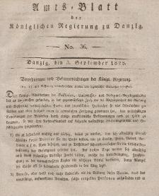 Amts-Blatt der Königlichen Regierung zu Danzig, 3. September 1828, Nr. 36