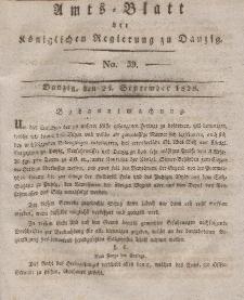 Amts-Blatt der Königlichen Regierung zu Danzig, 24. September 1828, Nr. 39