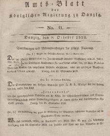 Amts-Blatt der Königlichen Regierung zu Danzig, 8. Oktober 1828, Nr. 41