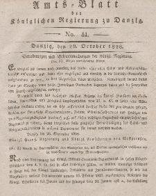 Amts-Blatt der Königlichen Regierung zu Danzig, 29. Oktober 1828, Nr. 44