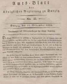 Amts-Blatt der Königlichen Regierung zu Danzig, 26. November 1828, Nr. 48