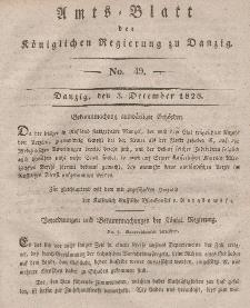 Amts-Blatt der Königlichen Regierung zu Danzig, 3. Dezember 1828, Nr. 49