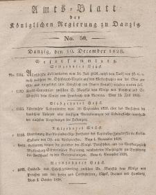 Amts-Blatt der Königlichen Regierung zu Danzig, 10. Dezember 1828, Nr. 50