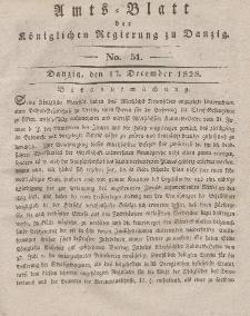Amts-Blatt der Königlichen Regierung zu Danzig, 17. Dezember 1828, Nr. 51
