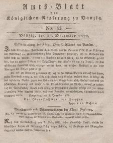 Amts-Blatt der Königlichen Regierung zu Danzig, 24. Dezember 1828, Nr. 52