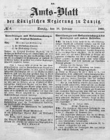 Amts-Blatt der Königlichen Regierung zu Danzig, 10. Februar 1869, Nr. 6