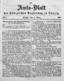 Amts-Blatt der Königlichen Regierung zu Danzig, 3. März 1869, Nr. 9
