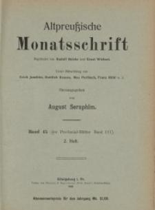 Altpreußische Monatsschrift, 1908, H. 2, Bd. 45
