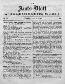 Amts-Blatt der Königlichen Regierung zu Danzig, 9. Juni 1869, Nr. 23