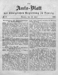 Amts-Blatt der Königlichen Regierung zu Danzig, 23. Juni 1869, Nr. 25