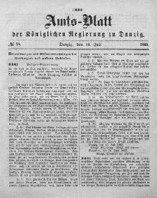 Amts-Blatt der Königlichen Regierung zu Danzig, 14. Juli 1869, Nr. 28