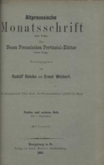 Altpreussische Monatsschrift, 1885, Juli-September, Bd. 22
