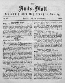 Amts-Blatt der Königlichen Regierung zu Danzig, 29. September 1869, Nr. 39