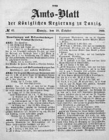 Amts-Blatt der Königlichen Regierung zu Danzig, 20. Oktober 1869, Nr. 42