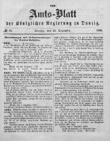 Amts-Blatt der Königlichen Regierung zu Danzig, 22. Dezember 1869, Nr. 51