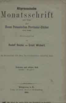 Altpreussische Monatsschrift, 1885, Oktober-Dezember, Bd. 22